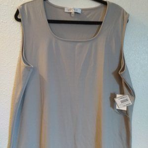 Taupe Sleeveless Stretch Top